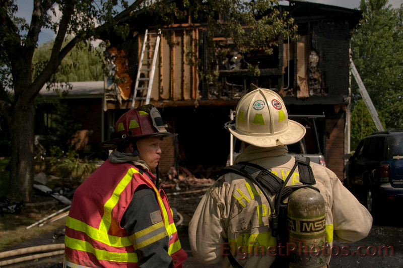 Bartlett Fire  - 963 Castlewood Ln. Residential Fire - 09-05-09