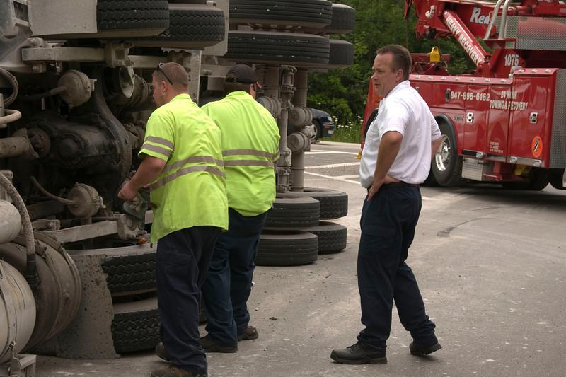 Bartlett Fire - Gravel Truck Overturns on Schaumburg Rd. - July 24, 2009