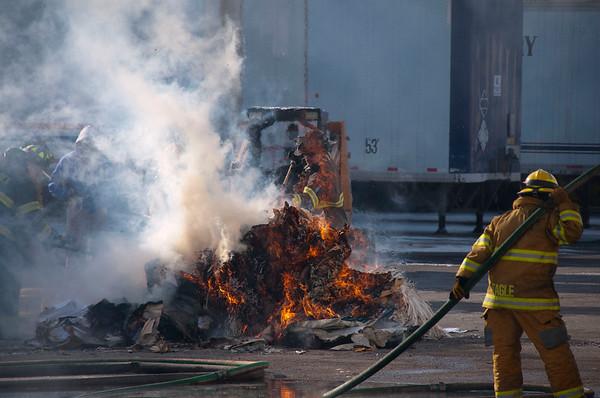 Bensenville FD - Jan. 28, 2010 - Thomas Dr. Trailer Fire