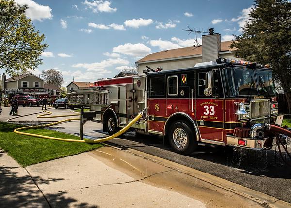 Streamwood Fire Department Garage Fire - April 27, 2015