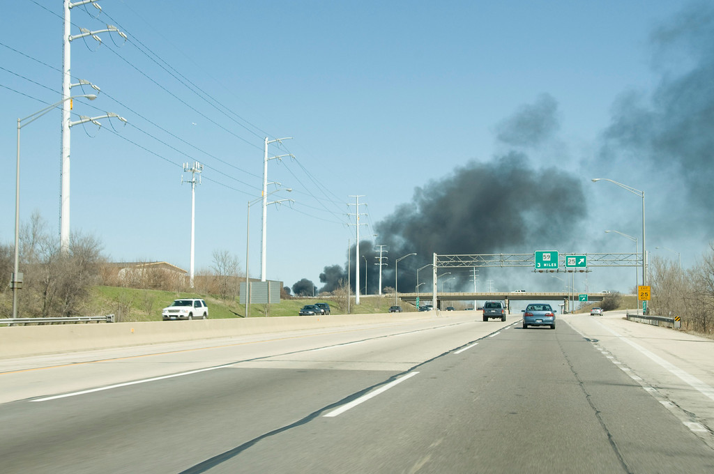 As seen approaching from the tollway west of Rt. 25.