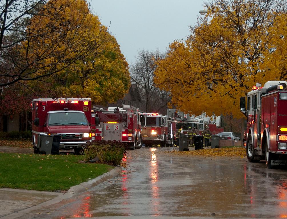 Elgin Fire Department Residential fire 16 Creekside Cir. - Oct. 30, 2009