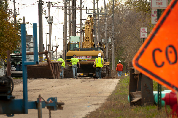 Hampshire FD - Construction worker struck by back-ho - Oct. 25, 2011