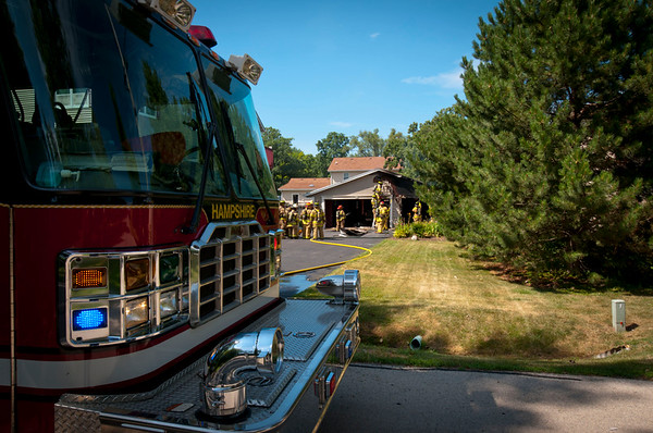 Hampshire Garage Fire - July 22, 2011