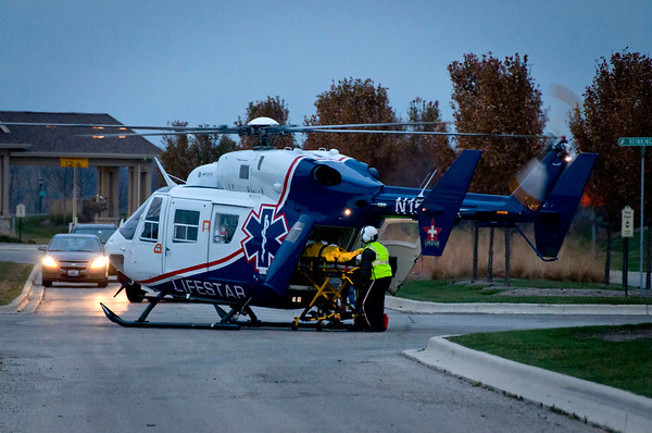 Pingree Grove MVA - 2 Helos - Nov. 21, 2011