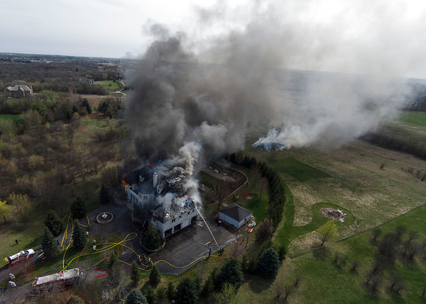 Barrington Countryside FPD Mansion Fire - 04/18/15