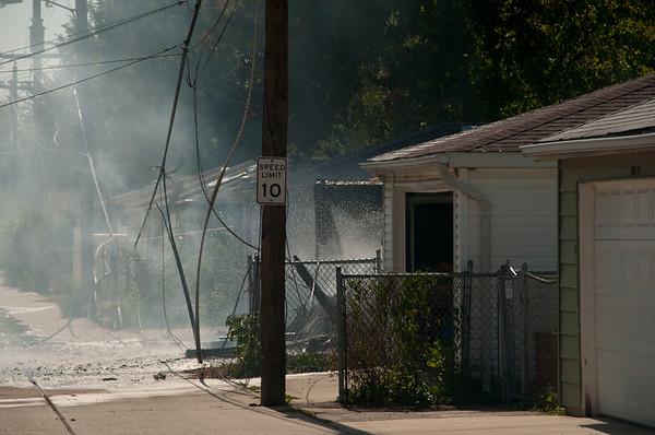 Bellwood Garage Fire - Oct. 9, 2010