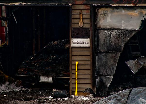 Crystal Lake Garage Fire - Jan. 25, 2010