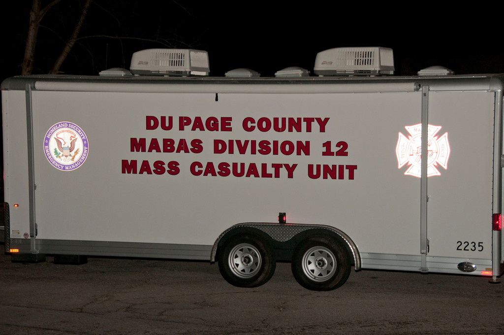 Glen Ellyn Fire Department MABAS 12 -   Two Alarm C/O with Mass Casualties Ice Center - Nov. 7, 2009