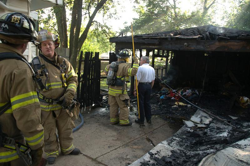 Carpentersville Fire Dept. 34 Cardinal Ln. Garage Fire  - July 20, 2009