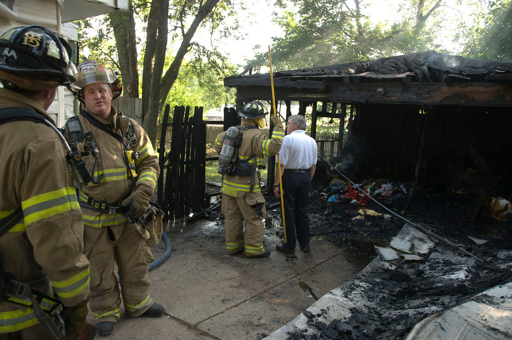 Carpentersville Fire Dept. 34 Cardinal Ln. Garage Fire  - July 20, 2009
