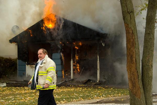 "Carpentersville Fire Chief John Schuldt.  <i>""yep....it's a fire"".</i>"