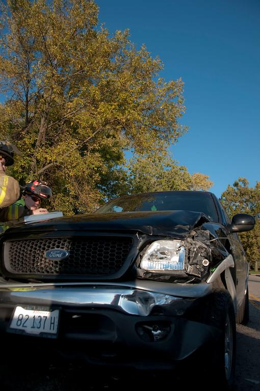 Carpentersville Fire Department Rollover - 25 & Golfview - Oct. 10, 2009