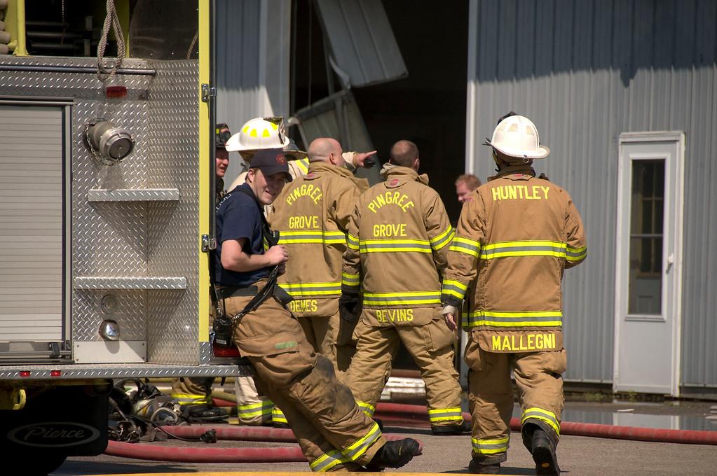 Rutland-Dundee Box Alarm - Industrial Dr. Aug. 2, 2009