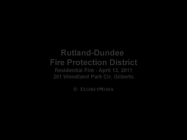 I'm ashamed of this video, but it was a quick decision to go without the tripod. Never again. Rutland-Dundee Residential fire in Gilberts. This house was a total loss.
