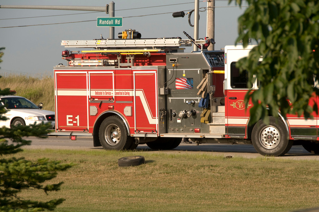South Elgin Fire Semi Accident - Aug. 11, 2009