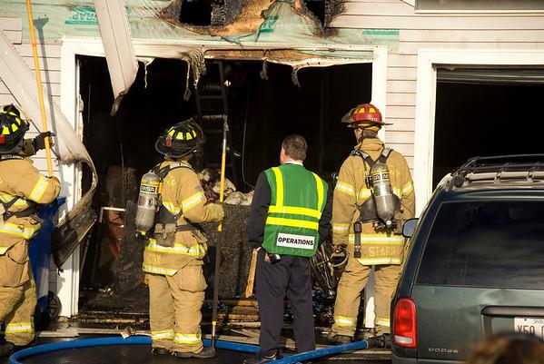 South Elgin Jan. 10, 2008 - Residential garage fire, Jenna Dr.