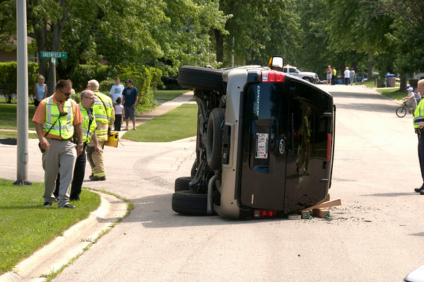 South Elgin - July 15, 2009 - Rollover accident Michigan and Greenfield