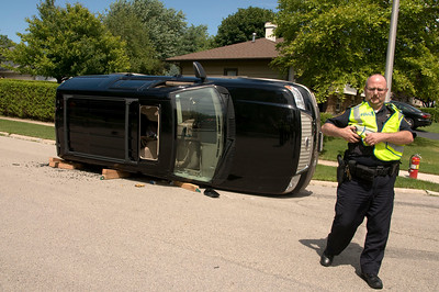 South Elgin - July 15, 2009 - Rollover accident Michigan and