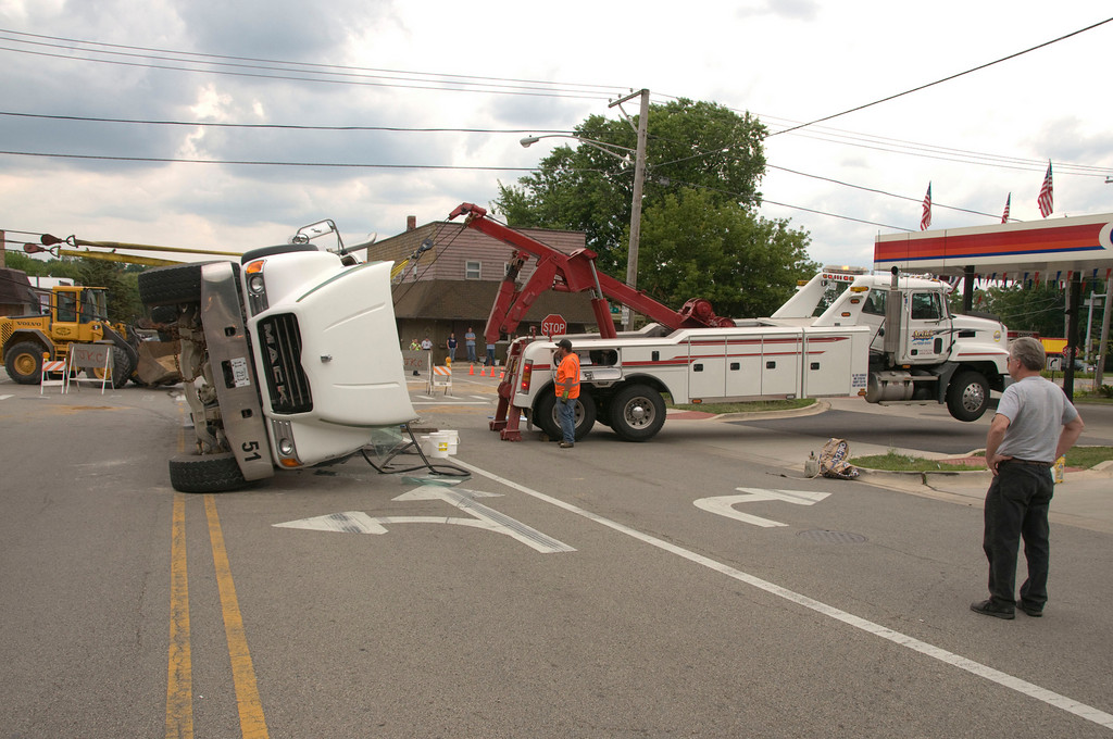 South Elgin Fire Cement Truck rollover - July 21, 2009