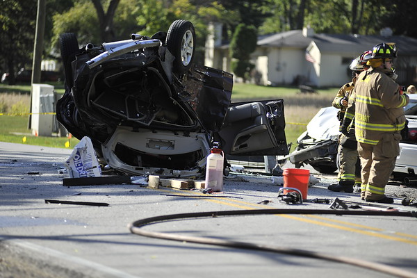 South Elgin Rollover - McDonald and Stevens Rd. - Sept. 25, 2012
