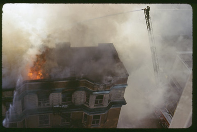 Elgin Historical Photos from 1979 Elgin Lawyer Building fire