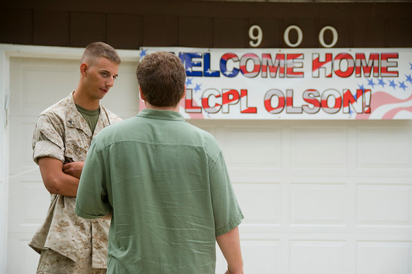 Welcome Home Marine Corp LCPL Sean Olson!