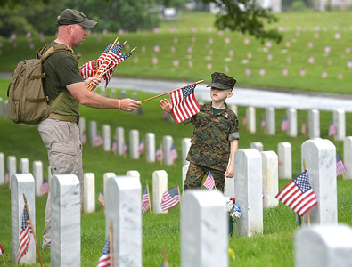 Flag Placement Day at Mountain Home National Cemetery