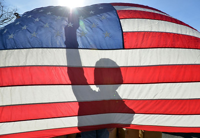 Boy Scouts retire American Flags