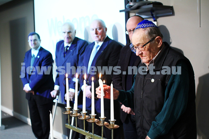 5-7-15.  The Australian Society of Polish Jews and Their Descendants event at Beth Weizmann honouring the Polish Righteous Among the Nations. Moshe Fiszman. Photo: Peter Haskin
