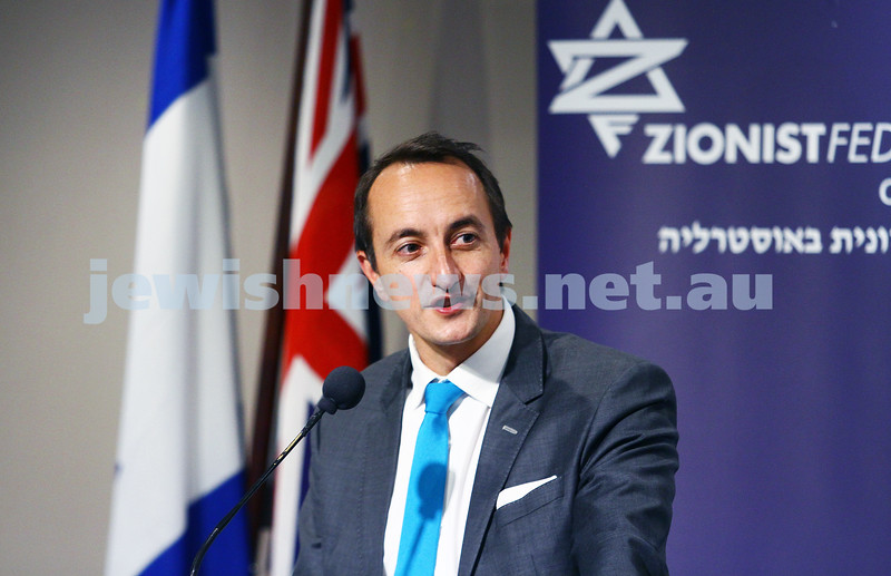 21-7-15. Beth Weizmann Community Centre. Dave Sharma, Australian Embassador to isreal in Melbourne. Photo: Peter Haskin