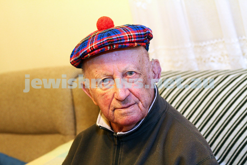29-5-15. 95 year old Henryk (Henry) Neufeld, one of the Schindler's List survivors. Photo: Peter Haskin