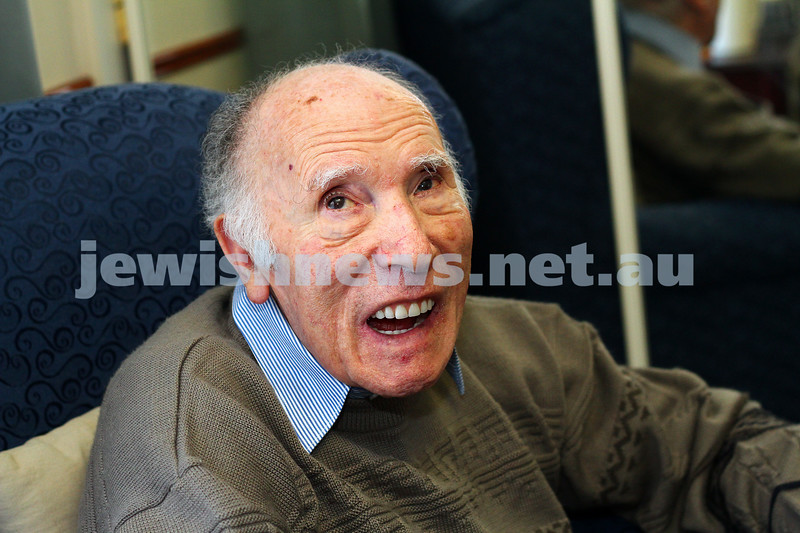 29-5-15. 94 year old Aron Stein, one of the Schindler's List survivors. Photo: Peter Haskin