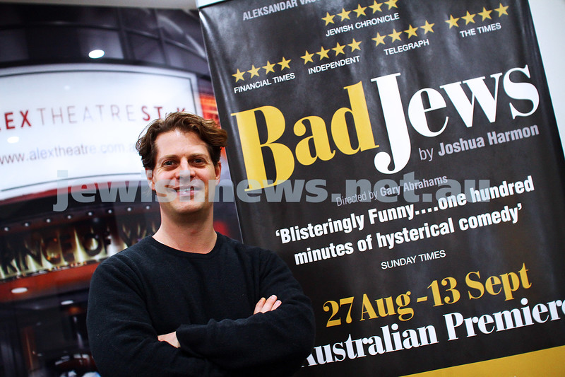 "14-7-15. Director of ""Bad Jews"", Gary Abrahams at the Alex Theatre in St Kilda. Photo: Peter Haskin"