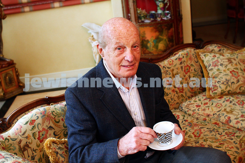 25-6-15. Tully Bleich.  Shoah survivor and opened Melb's 1st coffee lounge in Fitzroy St in 1950s. Photo: Peter Haskin