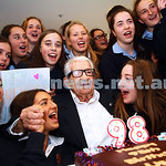 28-4-15. Emmy Monash Aged Care. Students from years 9 to 12 help celebrate Uszer