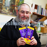 26-5-15. Yankel Wajsbort, General Manager Kosher Australia holding the new  kosher Cadbury Vegemite chocolate. Photo: Peter Haskin