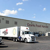 A truck prepares to load food for transport last month at Ozarks Food Harvest in Springfield.<br /> Globe | Laurie Sisk