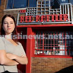 Shailee Mendelevich outside The Red Rattler Theatre in Marrickville.