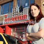 Shailee Mendelevich outside The Red Rattler Theatre in Newtown.