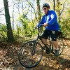 Garry Smith, of Baxter Springs, rides the Ruby Trail near Carthage on Thursday. Officials with the Joplin Trails Coalition are planning a 1.5 mile expansion of the trail.<br /> Globe | Laurie Sisk