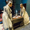 "From the left: Cheyenne Hensley (Marjorie) and Catherine Nolan (Emilie) rehearse for Cottey College's production of ""The Moors"" on Tuesday night at Cottey College.<br /> Globe 