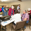 A long line of voters wait to cast their ballots in the 2016 General Election on Tuesday at The Church at Brookwood.<br /> Globe | Laurie Sisk