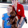 Seven-year-old Peyton Vanderpool poses with his new friend, Chelsea Jones during his Make A Wish trip to Florida.<br /> Courtesy photo