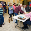 A steady line of voters wait to cast their ballots in the 2016 General Election on Tuesday at the Donald Clark Justice Center.<br /> Globe | Laurie Sisk