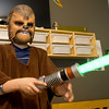 Seven-year-old Peyton Vanderpool dons his Chewbacca outfit on Wednesday at his Carl Junction home. Peyton and his family recently went on a Make A Wish trip to Universal Studios in Florida, where Peyton was able to meet Star Wars characters.<br /> Globe | Laurie Sisk