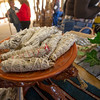 Sage wraps for driving away bad spirits sit in a bowl at the Wonderful Things booth on Saturday at the Christkindlmarket inside the Webb City Farmer's Market.<br /> Globe | Laurie Sisk
