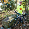 Joplin Trails Coalition boardmember Robert Blackford stands near the beginning of the Ruby Jack Trail in Carthage before a ride on Thursday.<br /> Globe | Laurie Sisk