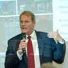 Pittsburg City manager Daron Hall praises the Block 22 development project during the Pittsburg Area Chamber of Commerce luncheon on Friday at PSU.<br /> Globe | Laurie SIsk