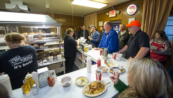 The staff at Fred & Red's deal with a packed house all day Wednesday during their first day of business at the popular Joplin restaurant that has been closed for about four years.<br /> Globe | Laurie Sisk